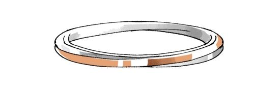 リングのデザイン35255