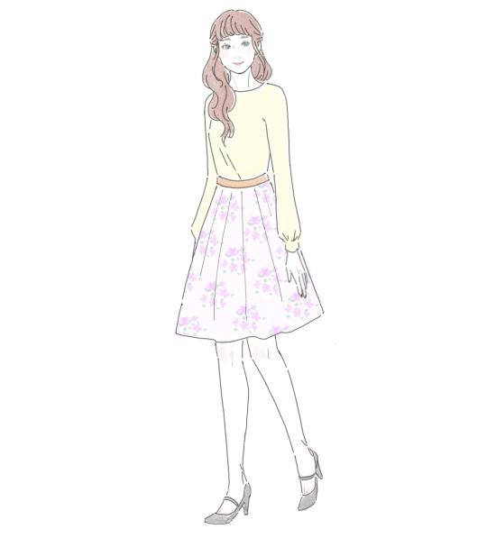 花柄スカート 9275