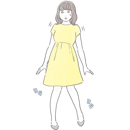 ぽっちゃり女子の歩き方に注意11065